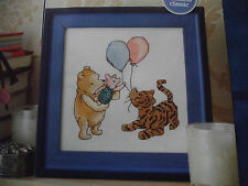 DISNEY WINNIE THE POOH, PIGLET AND TIGGER WITH BALLOONS  CROSS STITCH CHART
