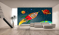 Space Rocket Wall Mural Photo Wallpaper GIANT DECOR Paper Poster Free Paste