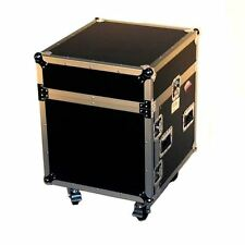 "Pro X T-10MRSS 10U x 10U Slanted DJ Rack Flight Case With Wheels+3/8"" Wood"