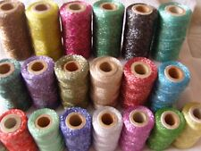 20 Metallic Embriodery Spools, 20 different Colours