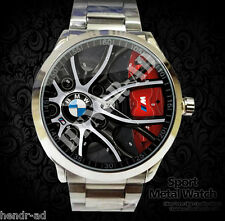Rare! Reloj BMW F3 Car Rims Stainless Steel Sport Metal Watch Unisex Fit Tshirt