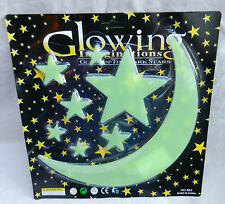 Glow in the dark autocollants-night sky-large moon & stars pack