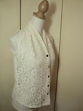 moods lace  shirt feminine  antique white