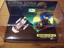 1/43 AYRTON SENNA No 14 GO KART TWIN SET 1980 1993