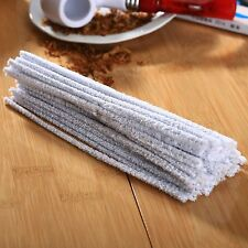 White 50pcs/Pack Smoking Tobacco Pipe Cleaning Rod Tool Convenient Cleaner Stems