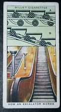 London Underground  Escalator    LPTB 1930's Vintage Card  VGC
