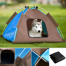 Dog Cat Camping Gear Set with Pet Tent and Outdoor Bed Medium Foldable Doghouse