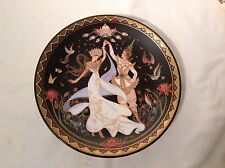 Wedding Dance Vintage Royal Porcelain Plate Painted China Love Story of Siam #3