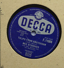 Max Bygraves - Tulips from Amsterdam - 78 rpm - Decca (1958)