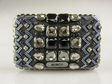 MIMCO Last Dance Hardcase Black Denim RRP$229 Crystal Clutch Evening Bag Handbag