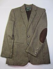 Women's RALPH LAUREN Brown TWEED Sport Coat Petite 6P Good+ Condition!