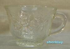 Vintage INDIANA GLASS PRINCESS CLEAR Punch Bowl Replacement CUP Grapes & Leaves