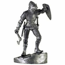 France. Knight w/axe, 14Cen. Tin toy soldiers. 54mm miniature metal sculpture