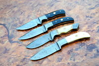 4/Damascus steel BLADE FIXED BLADE,HUNTING SKINNER KNIFE (LOT OF 4)