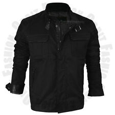 Mens Windbreaker Slim Fit Coat Jacket Casual Outwear Mock Collar Cotton Winter