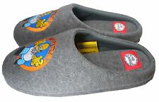 Licensed Homer Simpson Why You Little...!!! Men's Grey Slippers SIZE SMALL 7-8