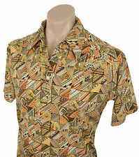 Vintage 70s LILLY DACHE' SHIRT Hipster Retro Hippy Folk Pattern Club Casual M