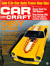 CAR CRAFT JAN 1973,SCOTT SHAFIROFF- BRUCE LARSON CAMARO,JANUARY,HOT ROD MAGAZINE