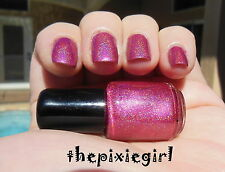 HOLOGRAPHIC Linear Rainbow Spectraflair Pink Nail Polish Lacquer Mini 5mL Bottle