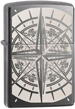 Zippo Choice Catalog Compass Black Ice Laser Engrave/Auto Engrave 29232 NEW