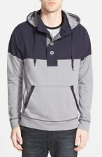HOWE MEN'S ROYAL REPUBLIC PULLOVER HOODIE SWEATER NAVY BLUE GREY LARGE NEW! $99