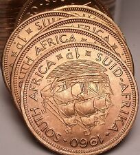 Gem Unc Roll (20) Large South Africa 1960 Penny's~Last Year~Fantastic~Free Ship