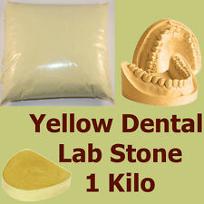 1 kilo, Extra Hard #3 Dental LabStone, Yellow Casting Moulding Stone Plaster