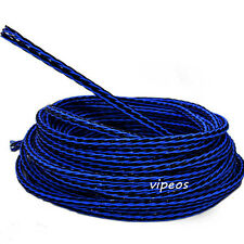8TC Blue/Black DIY Bulk speaker Cable Audiophile sell per 1m Teflon copper