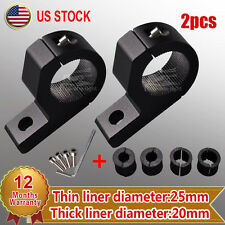 "2 X 1""inch Off Road Bull bar Mount Bracket Tube Clamps For HID ATV Led Light Bar"
