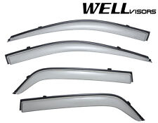 WellVisors Side Window Visors Rain Guard W/ Black Trim For 04-10 KIA Sportage