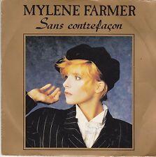 MYLENE FARMER - SANS CONTREFACON - LA RONDE TRISTE - VINYL SINGLE T45