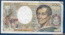 200 Francs Montesquieu Type 1981 - 1992 L.107 Qualité TB