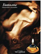 "Publicité Advertising 1993 Parfum ""Fantasme"" par Ted Lapidus"