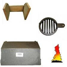 FIRE BRICKS & BAFFLE THROAT PLATE & GRATE FOR A MORSO SQUIRREL 1410/1430/1440