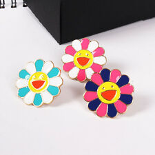4pcs Colorfull Daisy Cute Kids Jeans Bag Shirt Collar Pin Set Enamel Brooch Pin