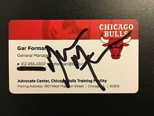Gar Forman Signed Business Card Autographed Autograph Auto Chicago Bulls GM Nba