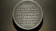 Disney World Magic Kingdom Entranceway Plaque