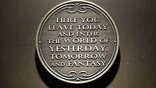 Disney World Magic Kingdom Entranceway Plaque