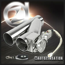 "3.0"" Electric Exhaust Catback Downpipe Muffler Cutout Valve System w/ Remote"