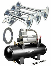 TRAIN AIR HORN & VIAIR 20005 COMPRESSOR TANK KIT COMBO 150psi 152db BEHEMOTH-i