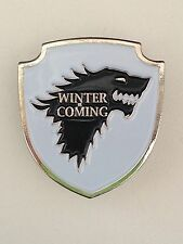 Game Of Thrones House Stark Lapel Pin. 25mm
