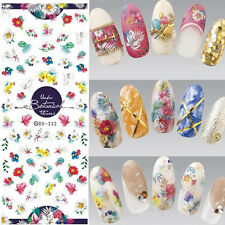 1 Sheet Water Decal Nail Art Flower Grass Transfer Stickers Decoration DS332