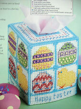 ''HAPPY EASTER  TISSUE BOX COVER'' ~*~PLASTIC  CANVAS PATTERN~*~