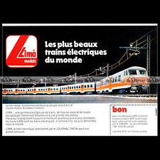 LIMA Train Electrique Automotrice SNCB BB+BB 826 1981 : Pub Publicité Ad #B568