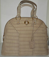 NWT YSL $2,800 WOMENS OVERSIZED MUSE CROC PRINT SUEDE LEATHER TOTE PURSE BAG