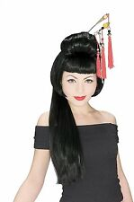 Black China Girl Geisha Wig Rubies Costume, One Size Chinese Oriental