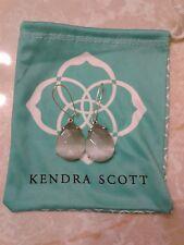 Kendra Scott Slate Cat's Eye Gray Allison Teardrop Earrings Rare HTF