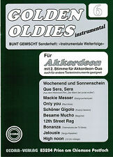 Akkordeon Noten : Golden Oldies Heft 6  m. 2. Stimme (ad. lib.) mittelschwer