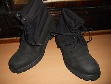 "Awesome, TIMBERLAND, BLACK 6"" ROLL TOP LEATHER BOOT, Men's Sz 9 M, PERFECT!"