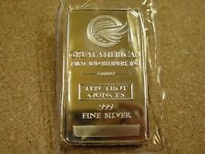 GREAT AMERICAN MINT 10 TROY OUNCE SILVER BAR .999 FINE SILVER ORIGINAL PACKAGE